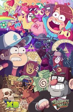 "After a year of constant waiting, Disney Channel/Disney XD finally brings us the long-awaited second season of Gravity Falls! ""What exactly is Gravity. Gravity Falls Poster, New Gravity Falls, Gravity Falls Comics, Gravity Falls Waddles, Dipper Et Mabel, Monster Falls, Gavity Falls, Desenhos Gravity Falls, Reverse Falls"
