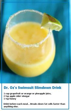 Dr. Ozs Swimsuit Slimdown Drink Forget slim down (well maybe not) this drink\u2026 #weightlossbeforeandafter