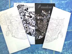 A tragicomedy~ or An Elegant Black & While Lace Mask~ ~ Quilltique Paradise