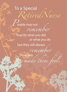 Retired Nurse Nurses Day Wildflowers On Brown Retirement CardsRetirement IdeasRetirement PartiesNurses