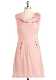 Love this soft color of pink--lovely for a bridesmaid dress!    14. Modcloth bridesmaid dress  #modcloth #wedding