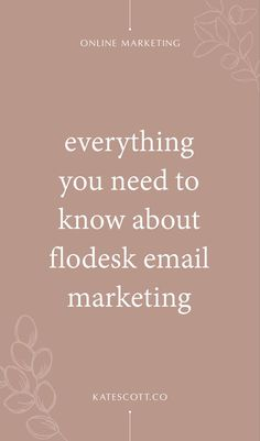 Flodesk email marketing is the hot new tool for online businesses. Learn more by reading my full review of all the features! | Email Marketing Design | Email Marketing Strategy | Email Marketing Inspiration | Email Marketing Tips | Email Marketing Ideas | Email Marketing Services | Email Marketing Company | Email Marketing Companies // Kate Scott Co. Email Marketing Companies, Email Marketing Design, Content Marketing Strategy, Small Business Marketing, Online Marketing, Marketing Ideas, Media Marketing, Digital Marketing, Management Tips