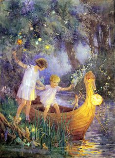"Margaret W. Tarrant (1888 – 1959, English) ""Boat to Fairyland"" (Serendipity!)"