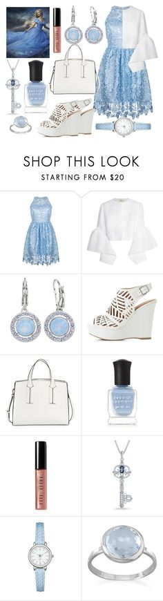 """A Cinderella Story"" by gabbie-glorious ❤ liked on Polyvore featuring Ukulele, Delpozo, Brilliance, Charlotte Russe, French Connection, Deborah Lippmann, Bobbi Brown Cosmetics, Disney, BillyTheTree and lace"