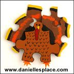 Turkey Puzzle Piece Pin Craft