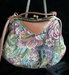 Tapestry Shoulder-Strap Handbag by JennieJamesResale on Etsy