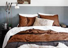 10 Beautiful Rooms - Mad About The House: grey bedroom at the Estate Trentham Bohemian Interior, Interior Styling, Interior Design, Mad About The House, Brown Interior, Luxury Accommodation, Industrial House, Deco Design, Large Homes