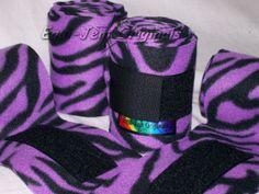 Purple/Black Zebra Polo Wraps