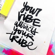 Kal Barteski script. Word + #vibe. #kbscript (grateful for my tribe.)