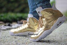 On-Feet Images Of The Air Jordan 6 Pinnacle Metallic Gold