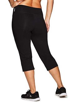 e60ca07fad4e6 RBX Active Women's Plus Size Cotton Spandex Fashion Workout Yoga Capri  Leggings at Amazon Women's Clothing