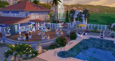 Sims 4 CC's - The Best: Le Lagon mediterranean restaurant by Studio Sims C...