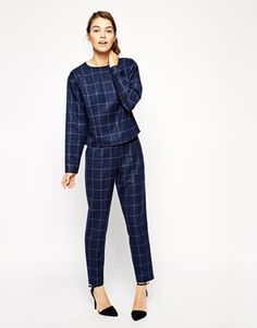 Enlarge ASOS Long Sleeve Check Tee