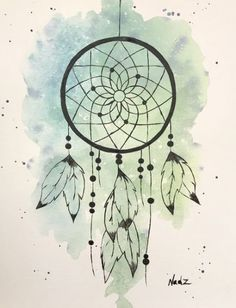 Trendy diy dream catcher drawing beautiful ideas dream catcher drawing - Drawing Tips Dream Catcher Sketch, Dream Catcher Canvas, Dream Catcher Painting, Dream Catcher Tattoo Design, Dream Catcher Watercolor, Drawings Of Dream Catchers, Dreamcatcher Wallpaper, Watercolor Dreamcatcher, Doodle Art Drawing