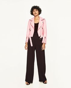 Image 2 of LEATHER EFFECT JACKET from Zara