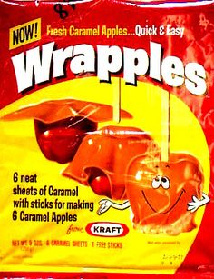 Kraft Wrapples for Caramel Apples Those Were The Days, The Good Old Days, Vintage Candy, Retro Vintage, I Remember When, Oldies But Goodies, Ol Days, My Childhood Memories, Good Ole