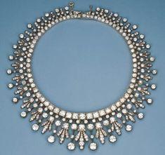 An Antique Diamond Fringe Necklace
