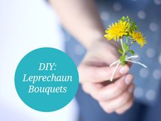 Teach your kids all about St. Patrick's Day while you work on these tiny leprechaun bouquets. Here's a quick and simple little project you can do with your kiddos to celebrate. Done With You, Leprechaun, St Patricks Day, Bouquets, Crafts For Kids, Children, Spring, Creative, Flowers