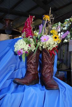 Cowboy Boot Floral Arrangement