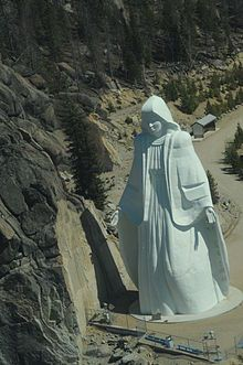 Our Lady of the Rockies - Butte, Montana    a 90-foot statue, dedicated to women, that sits atop the Continental Divide