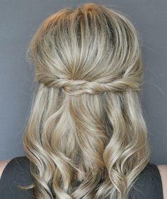 easy twist half up hair tutorial Twist Hairstyles, Pretty Hairstyles, Wedding Hairstyles, Church Hairstyles, Formal Hairstyles For Short Hair, Bridesmaid Hairstyles, Amazing Hairstyles, Simple Hairstyles, Easy Hairstyle