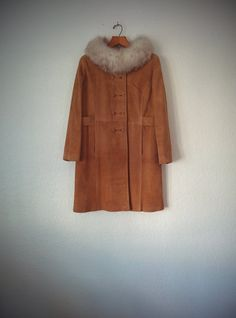 Vintage 60's Suede Coat Dayton's Tan Leather by BetaGoods on Etsy
