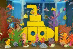 under the sea submarine - olivia Under The Sea Theme, Under The Sea Party, Under The Sea Decorations, Underwater Theme, Graduation Theme, Ocean Party, Ocean Crafts, Trunk Or Treat, Ocean Themes