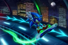 Sonic Riders - City Rider by MylaFox on DeviantArt Hedgehog Art, Shadow The Hedgehog, Sonic The Hedgehog, Sonic Free Riders, Sonic Nintendo, Sonic Adventure 2, Dragon Ball, Rouge The Bat, Sonic And Shadow