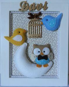 Porta Maternidade e decoração de quarto de bebê personalizado em feltro