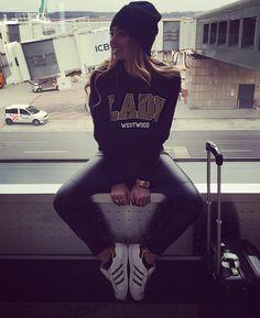 """MXP ✈️ JFK New York here i come  #NYfw2016  W/ my @ladp_losangeles ✌️ #byebye """