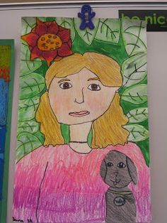 Jamestown Elementary Art Blog: 3rd Grade Frida Kahlo Self Portraits