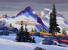 'Spring at Mamquam Mountain' x Oil on Canvas by Nicholas Bott Canadian Painters, Canadian Artists, Art And Illustration, Landscape Art, Landscape Paintings, Painting Inspiration, Art Inspo, Kunst Inspo, Guache