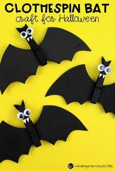 This Clothespin Bat Craft Is A Great For Kids And By Adding Magnet To The Back You Can Turn It Into Fun Gift Take Home Too