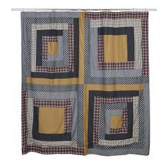 """Westport Patchwork Cotton Shower Curtain 72""""x72"""""""