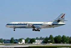 Sud SE-210 Caravelle VI-R, United Airlines Photo by Bob Garrard