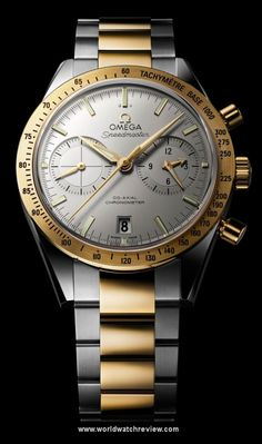 Omega Speedmaster 57 Two-Tone Automatic wrist watch in steel and yellow gold