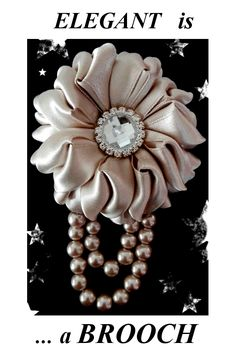 This brooch oozes class and sophistication. a real must for that formal occasion. Hair Barrettes, Hair Clips, Stunningly Beautiful, Brooch Pin, Brooches, Satin, Jewellery, Elegant, Formal