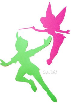 Mixed Pink Tinkerbell & Bright Green Peter Pan 12 inches tall Die cut - Set of 4 pcs - or Choose You Fairy Birthday Party, Birthday Party Themes, Festa Thinker Bell, Tinkerbell Pictures, Peter Pan And Tinkerbell, Tinkerbell Party, Diy Party, Party Ideas, Bright Green