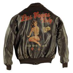Las Vegas Lady Pinup Leather Jacket
