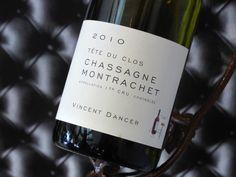 """Chassagne-Montrachet """"Tête du Clos"""" 2010. Domaine Vincent Dancer. Vin blanc de Bourgogne #chassagnemontrachet #whitewine #wine #winelover"""