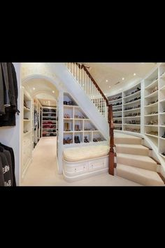 Nice big closet his downstairs hers upstairs
