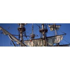Rigging of a tall ship Finistere Brittany France Canvas Art - Panoramic Images (36 x 12)