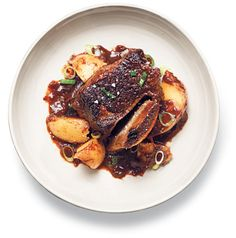 This recipe is by Mark Bittman and takes 1 hour. Tell us what you think of it at The New York Times - Dining - Food. This recipe is by Mark Bittman and takes 1 hour. Tell us what you think of it at The New York Times - Dining - Food. Pressure Cooker Short Ribs, Pressure Cooker Recipes, Pressure Cooking, Slow Cooker, Oven Cooking, Braised Short Ribs, Beef Short Ribs, Beef Ribs, Sauce Recipes