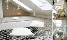 Russian architectural studio Ruetemple have created an apartment full of 'flexible furniture'. Indoor Hammock Bed, Hammock Netting, Diy Hammock, Flexible Furniture, Plywood Furniture, Design Patio, House Design, Design Design, Diy Bed