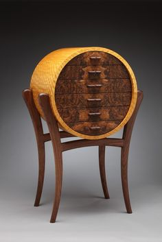 Circular Cabinet Crafted out of African by TheWoodMaestro on Etsy, $15000.00