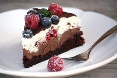 Čokoládová torta s mascarpone a ovocím - recept postup 10