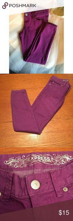 Purple Express Jeans Size 6 $10 or 4 for $30  Purple Express Jeans Size 6  Zelda - Slim Fit - Ultra Low Rise Express Jeans