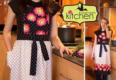 Nature Brights Kitchen: Daisy Dot Apron | Sew4Home