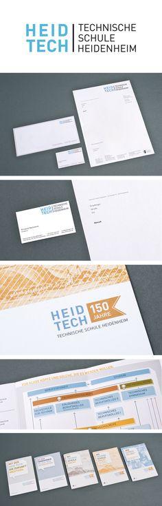 Corporate Design for the school HEID TECH by JoussenKarliczek, www.j-k.de