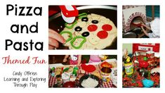 Themed Pizza and Pasta fun for kids. From cooking the best pizzas in town, pizza delivery. Pizza Playdough and songs and games. This post is jam packed with lots of inspiration.
